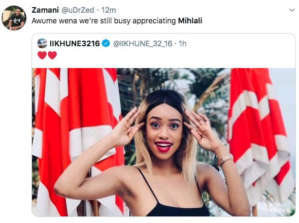Mihlali's Bikini Pic Causes Havoc