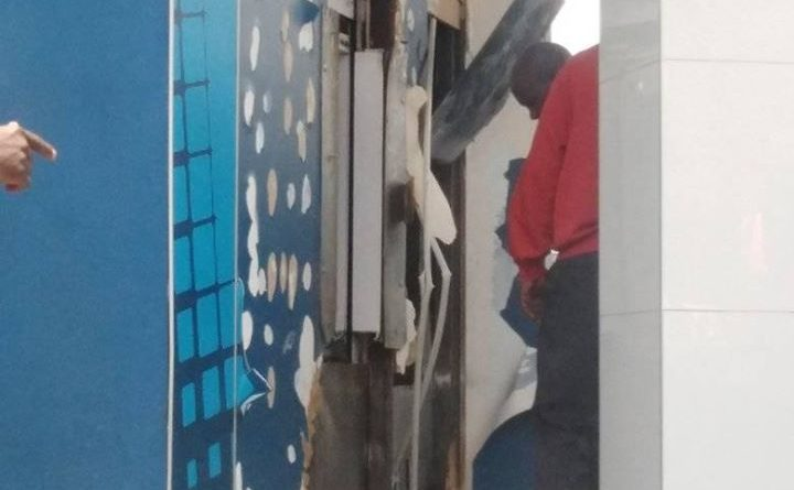 Watch: Three People Trapped Inside Capitec ATM following the breaking in Alexandra PAN