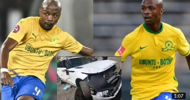 Mamelodi Sundowns Player involved in a car accident